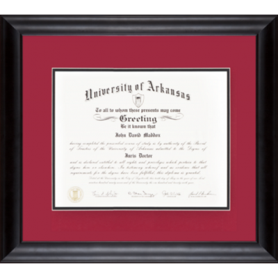 Framed Diplomas & Rubbings » ForeverRed